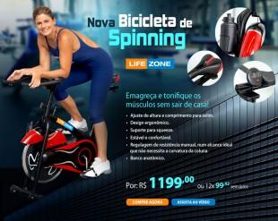 Hotsite de lançamento da nova bicicleta de Spinning Life Zone