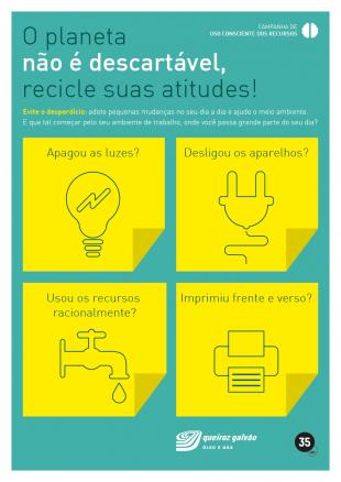 Campanha de Uso Consciente dos Recursos