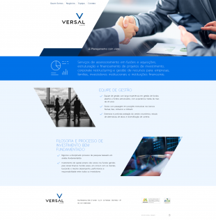 Website Institucional - Versal Finance